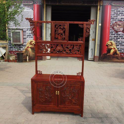 香河中式古典榆木门厅柜WF衣帽柜001