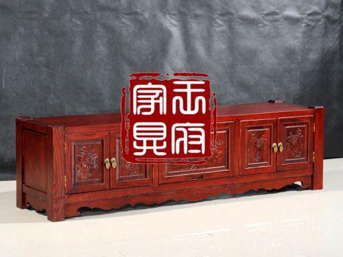 香河明清老榆木客厅电视柜定做4