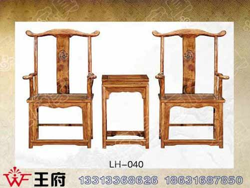 LH-040北京中式老榆木餐厅桌椅