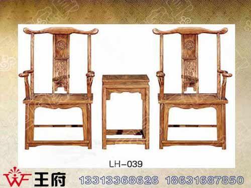 LH-039香河老榆木餐厅桌椅定制