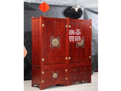 香河中式卧室衣柜批发YG-2