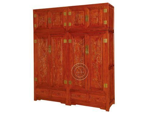 香河中式卧室衣柜定做YG-21