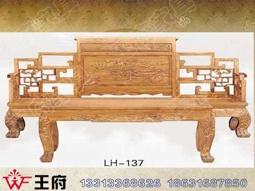 LH-137香河仿古罗汉床定做