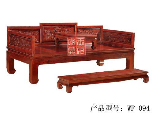 LH-106天津老榆木罗汉床制作