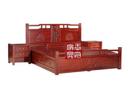 香河中式卧室床价格FGC-2