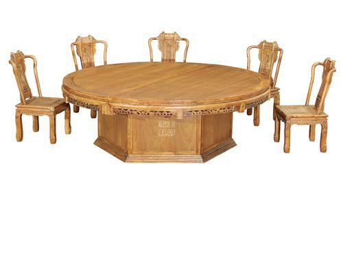 WF餐桌004天津仿古老榆木餐桌椅批发