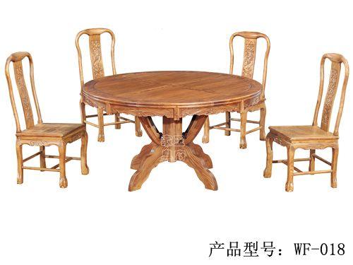LH-008仿古老榆木餐桌椅定做