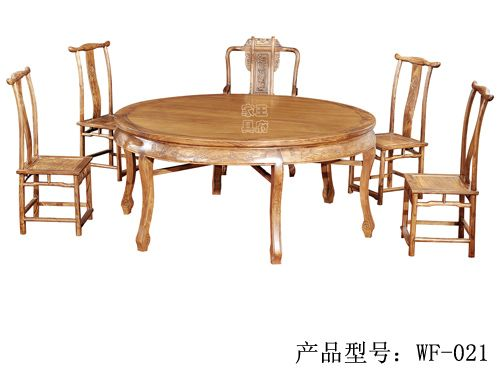 LH-010山东老榆木餐桌椅规格