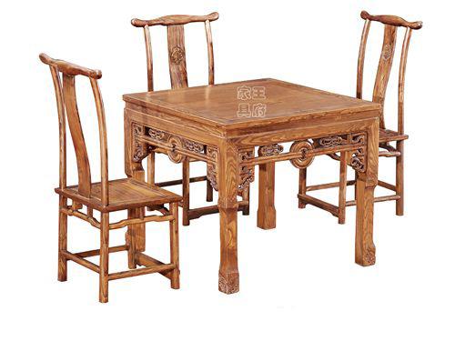 WF餐桌008香河老榆木餐桌椅价格