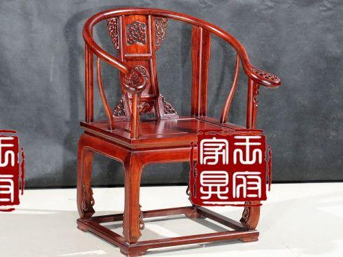 QY-001老榆木圈椅