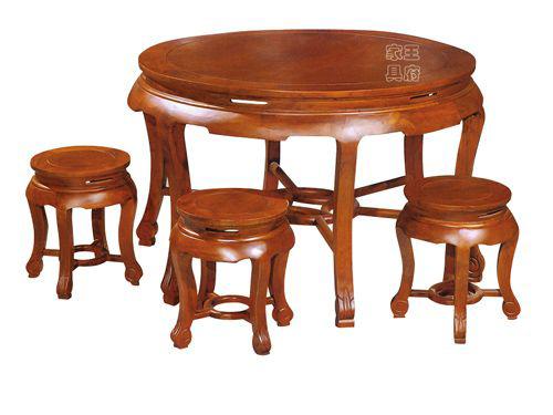 新中式老榆木家具WF餐桌005