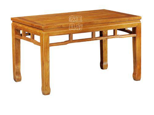 老榆木简约餐桌价格WF餐桌006