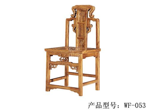 中式仿古榆木餐椅