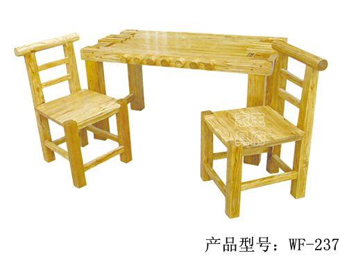 仿古榆木餐桌椅定做