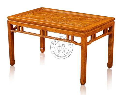 实木中式古典老榆木桌子餐桌