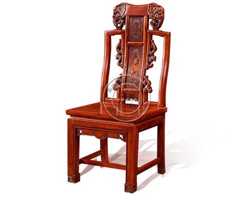老榆木中式餐厅餐桌椅WF餐椅005
