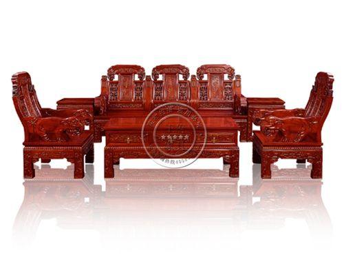 老榆木家用中式雕花沙发WF沙发003