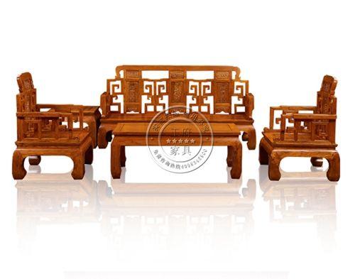 香河家用老榆木客厅沙发WF沙发005
