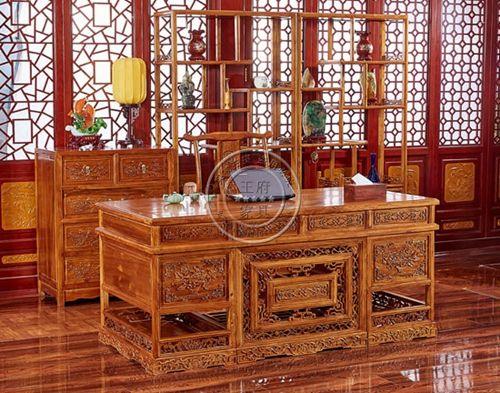 实木老榆木书桌写字台练字桌