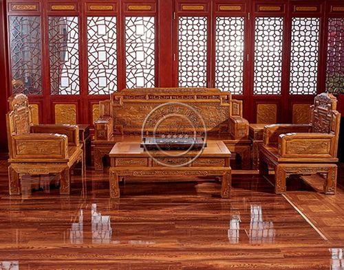 家用中式老榆木古典沙发WF沙发010