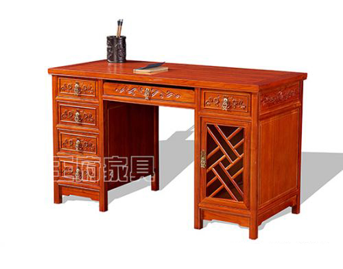 一米三老榆木电脑桌WF字台002