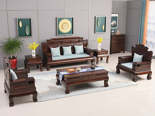 河北古典老榆木沙发图片wf沙发007-王府老榆木家具