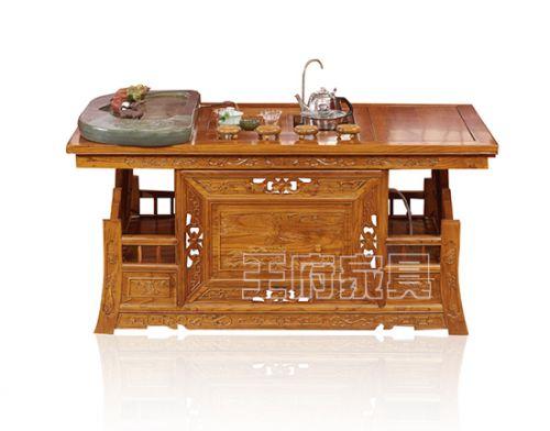香河中式老榆木家具茶台厂家
