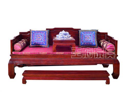 北京古典老榆木家具罗汉床