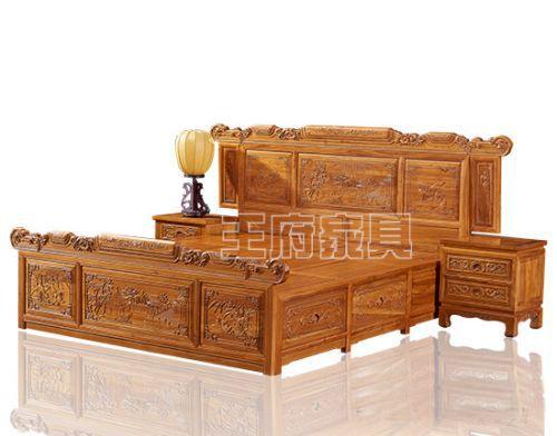 北京古典老榆木家具卧室床定制