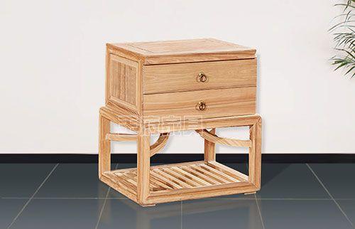 新中式榆木床头柜