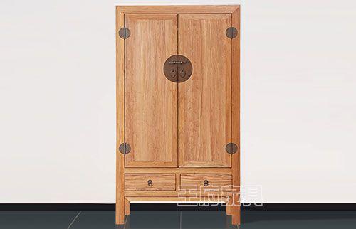 新中式实木两门衣柜