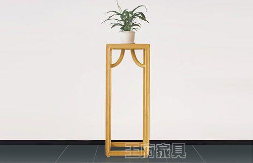 原木色不上漆客厅花架