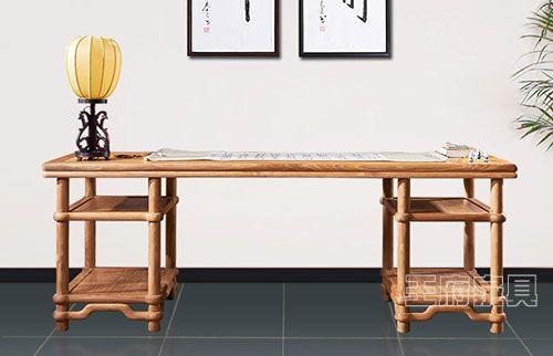新中式原木色明式书桌