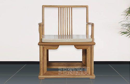 禅意老榆木明清仿古椅