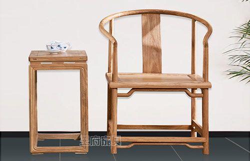 老榆木原木色明式圈椅