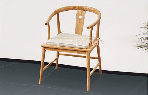 新中式免漆烫蜡办公茶椅