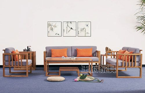 老榆木新中式禅意沙发