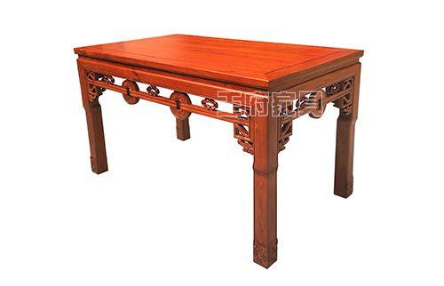 榆木古典实木饭店餐桌