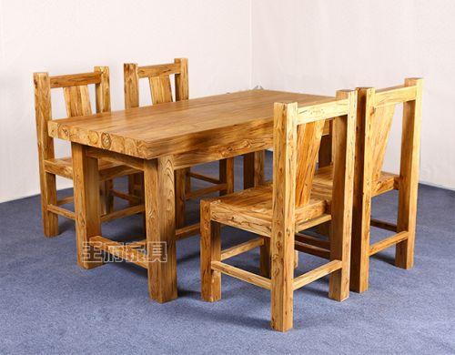 老榆木韩式大料餐厅桌椅