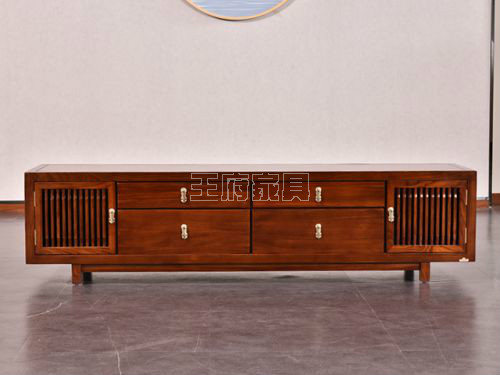 中式榆木电视柜