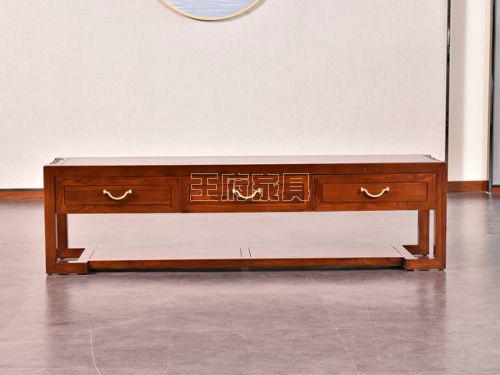 老榆木实木电视柜