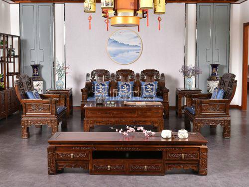 香河老榆木家具沙发