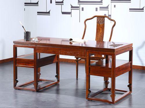 仿古榆木书桌