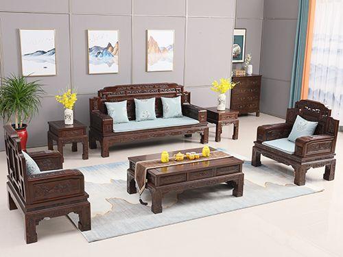 老榆木锦上添花沙发