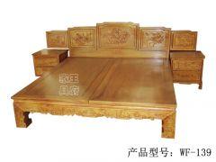 香河古典卧室床制作