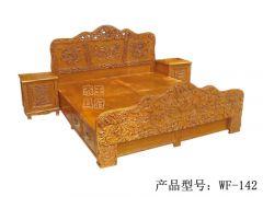 香河老榆木卧室床定做