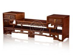 老榆木材质中式电视柜