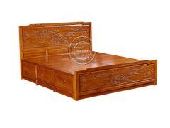 仿古中式老榆木古典双人床WF床001