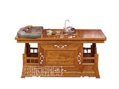 雕花中式实木茶台桌子WF-259