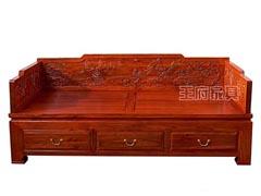 香河古典仿古老榆木罗汉床WF罗汉床002